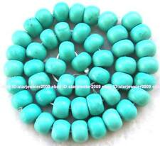"""New Green Howlite Turquoise Roundel Beads 8x12mm 16"""""""