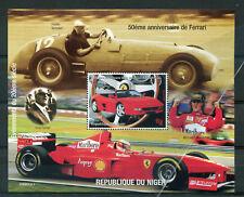 Thème Automobiles, bloc FERRARI, Niger,1998, neuf**