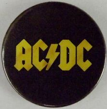 Ac/Dc Yellow Logotipo Clásico 1980`S Botón Insignia / Pin (25mm-2.5cm) Ac105