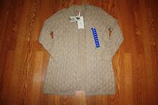 NWT Womens LEO & NICOLE Shawl Cardigan Long Sweater Beige Half Sleeve Size XL
