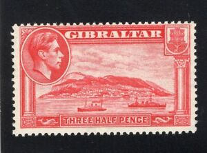 1938-51 Gibraltar. SC#109a. SG#123a. Mint, Never Hinged, FVF.