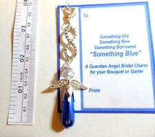 Something Blue Bridal Gift Guardian Angel Infinity Eternity Clip-on Charm