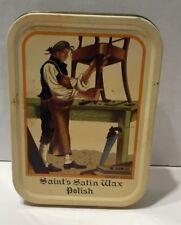 Saint's Satin Wax Furniture Polish Lavender 5 OZ Tin