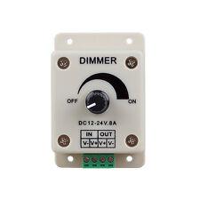 PWM Dimming Controller for LED Lights Ribbon Strip 12-24 Volt(12V - 24V)8 Amp LW