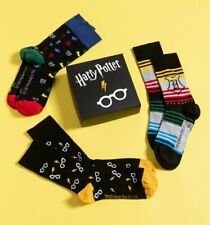 Official Harry Potter Pack of Three Socks in Gift Box