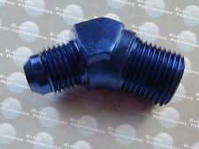 "6AN AN6 male to 3/8"" NPT 45 degree  Aluminum Fuel Fitting Adapter"