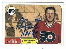 Autographed 2001-02 Topps Archives BERNIE PARENT Flyers Card #16 w/ Show Ticket