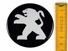 PEUGEOT ★ 4 Stück ★ SILIKON Ø65mm Aufkleber Emblem Felgenaufkleber Radkappen