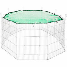 Small pet enclosure cage rabbit guineapig hutch outdoor playpen metal Ø204 green