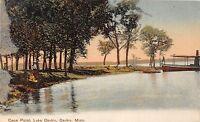 B88/ Osakis Minnesota Mn Postcard c1910 Coon Point Lake Osakis Boat