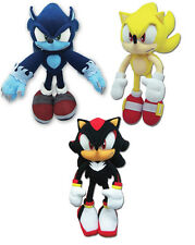 NEW Set of 3 GE Sonic the Hedgehog - Werehog/Super Sonic/Shadow Plush Toys