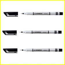 3 x Stabilo Sensor 189 Fine liner Marker Pen 0.3mm - Black - Fine
