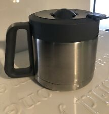 Krups Replacement Thermal Coffee Carafe Locking Lid . Stainless With Gray 12 Cup
