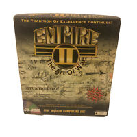 Empire II (2): The Art of War Big Box PC, 1995 Rare Computer Video Game