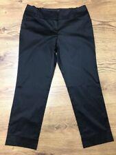 BNWT Monsoon Señoras Pantalones Negros material brillante talla 10 Reino Unido