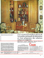 PUBLICITE ADVERTISING 094  1969  CESAM   bibliothéques  rangements  haute décora