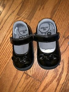 NEW Toddler 4M Stride Rite Black Patten Leather Look Mary Jane Dress Shoes