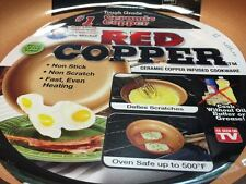 Red Copper Nonstick 12-Inch Frying Pan with Helper Handle Kitchen Cookware