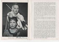 Autogramm Theater  Programmheft 1958 JOHN VAN DREELEN HANNELORE SCHROTH189