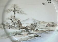 Japanese Hand Painted Scenic Porcelain Plate Top Quality