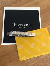 Genuine Nomination Bracelet With LOVE Charms. 18 Links In Total.