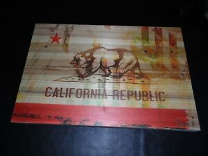 Parvez Taj Bear California Republic Flag Wood UV Ink Fine Art Wood Signed Print