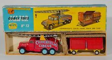 CORGI Gift Set 12 Chipperfield's circus crane truck & Animaux Cage. Boxed/1960's