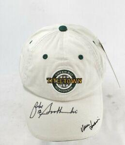 Lombardi Legends Titletown NFL Green Bay Packers Hat Cap Zeke Bratkowski Signed