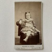 Antique CDV Photograph Victorian Fashionable Cute Girl Child Minneapolis, MN