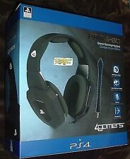 Sony PlayStation 4 Gaming Headset Pro4-80 Ps4 Black Premium Headphone 3.5mm