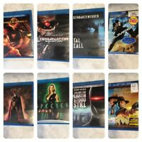 Lot of 8 Sci Fi DVD's BLU RAY Hunger Games, Spawn, Species And Others,