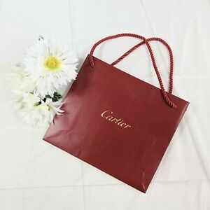 Cartier Authentic Red with Gold Small Gift Shopping Paper Bag