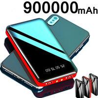 New 900000mAh Power Bank 2 USB Portable External Battery Huge Capacity Charger
