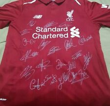 Exclusive EPL 2018/2019 Liverpool Full Team Signed Jersey