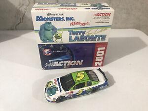Terry Labonte #5 Kellogg's Disney's Monster Inc. 1/24 Chevy 2001 Action NASCAR