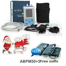 CONTEC 24 hours Ambulatory Blood Pressure Monitor ABPM50 +Software +3 cuffs,NIBP
