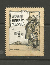 Austria/Graz 1910 Autumn Fair poster stamp/label