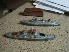 Vintage lot of 2 Tootsietoy Ships & bus