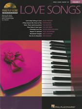 LOVE SONGS Piano Vocal Guitar Sheet Music Book & CD Elvis Beatles Shop Soiled