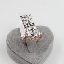 100 Genuine 18k Rose Gold 10 Ct Engagement Eternity Ring Size 8