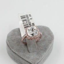 Wedding Engagement  18K rose gold filled 3.75 ct Square ring size 7.25