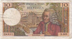 1973 | France 10 Francs Banknote | Banknotes | KM Coins