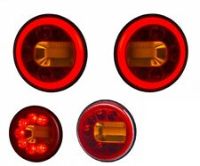 LED Neon Multifunction Rear Tail 2x Round Lights for Scania DAF Volvo MAN Iveco