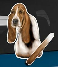 Basset Hound Dog Rear Car Window Sticker With Wagging Tail To Fit On Wiper Arm