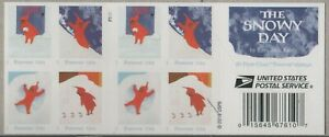 US WINTER FUN SCOTT 5243-5246 THE SNOWY DAY 20 VF FOREVER STAMP BOOKLET PANE NIP