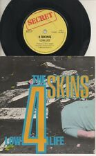 "THE 4 SKINS   Rare 1982 UK Only 7"" OOP Secret Label Punk P/C Single ""Low Life"""