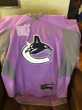 SIGNED Alex Edler Vancouver Canucks 2015 HOCKEY Fights Cancer Pre Game  Jersey c6e4cecc8