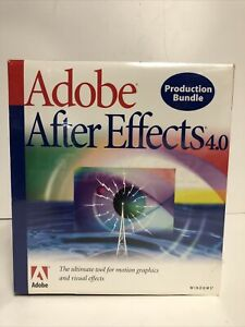 Adobe After Effects 4.0 Production Bundle for Windows 1998 New Sealed Package!