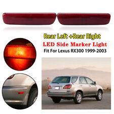 2x For LEXUS RX300 1999-2003 CAR Rear Bumper Reflector Side Marker Lights