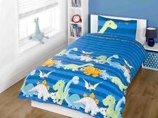 """Rapport Kids Children's """"Dinosaur"""" Dino Duvet Cover Bedding Set Blue"""